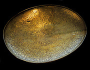 Shallow bowl, showing a more domed building. Iran. Bronze engraved,8th century AD
