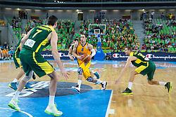 Sergii Gladyr #8 of Ukraine during basketball match between national team of Ukraine and Lithuania of Eurobasket 2013 on September 15, 2013 in SRC Stozice, Ljubljana, Slovenia. (Photo By Matic Klansek Velej / Sportida.com)