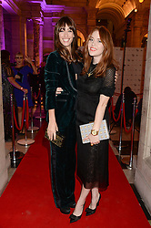 Left to right, LAURA JACKSON and ANGELA SCANLON at the WGSN Global Fashion Awards held at the V&A museum, London on 30th October 2013.