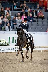 SEYMOUR Tanya (RSA), Ramoneur 6<br /> Göteborg - Gothenburg Horse Show 2019 <br /> FEI Dressage World Cup™ Final I<br /> Int. dressage competition - Grand Prix de Dressage<br /> Longines FEI Jumping World Cup™ Final and FEI Dressage World Cup™ Final<br /> 05. April 2019<br /> © www.sportfotos-lafrentz.de/Stefan Lafrentz