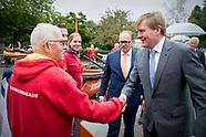 Koning Willem-Alexander is aanwezig bij de viering van het honderdjarig jubileum van Reddingsbrigade