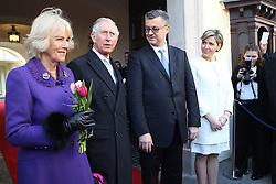14.03.2016, Zagreb, CRO, der Britische Kronprinz Charles und seine Frau Camilla besuchen Kroatien, im Bild British Crown Prince Charles and his wife Camilla, the Duchess of Cornwall, are visiting Croatia as part of a regional tour that will include Serbia, Montenegro and Kosovo. They visited the historic Upper Town and restoration of buildings that were damaged during bombing in 1991. Crown Prince Charles and his wife Camilla with Prime Minister Tihomir Oreskovic and his wife Sanja. EXPA Pictures © 2016, PhotoCredit: EXPA/ Pixsell/ Igor Kralj/POOL<br /> <br /> *****ATTENTION - for AUT, SLO, SUI, SWE, ITA, FRA only*****