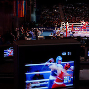 A panoramic image showing the Boxing at Sydney Olympic Park as  during the 2000 Sydney Olympic Games...Panoramic images from the Sydney Olympic Games, Sydney, Australia.  2000 . Photo Tim Clayton