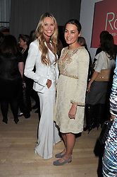 Left to right, ELLE MACPHERSON and YASMIN LE BON at the 2012 Rodial Beautiful Awards held at The Sanderson Hotel, Berners Street, London on 6th March 2012.