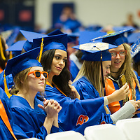 Winter Commencement at Taco Bell Arena, Allison Corona photo.