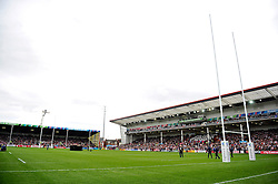 A general view of Kingsholm Stadium prior to the match - Mandatory byline: Patrick Khachfe/JMP - 07966 386802 - 23/09/2015 - RUGBY UNION - Kingsholm Stadium - Gloucester, England - Scotland v Japan - Rugby World Cup 2015 Pool B.