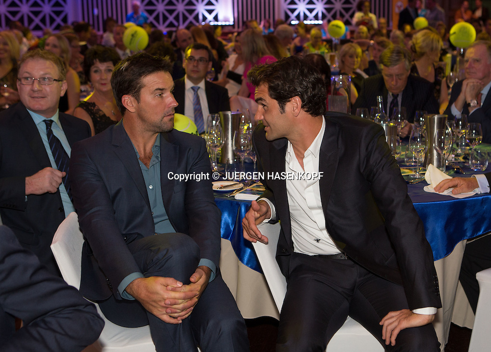 Ambience-Summer Night with the Stars,Roger Federer und Pat Rafter,<br /> <br /> Tennis -  - Brisbane International 2015 - ATP 250 - WTA -  Brisbane City Hall - Brisbane - Queensland - Australia  - 4 January 2015. &copy; Juergen Hasenkopf