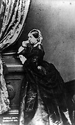 Victoria (1819-1901) Queen of Great Britain 1837-1901. Full length portrait of Victoria facing left, 1862 or later.