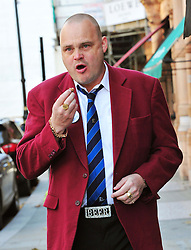 Al Murray, this year's ambassador of British Sausage Week 2012, promotes the Great British banger. Previous ambassadors include Noddy Holder, Craig Revel Horwood, Paul Daniels and Debbie McGee. Allen's of Mayfair, 117 Mount Street, London, United Kingdom, November 5, 2012. Photo by Nils Jorgensen / i-Images.
