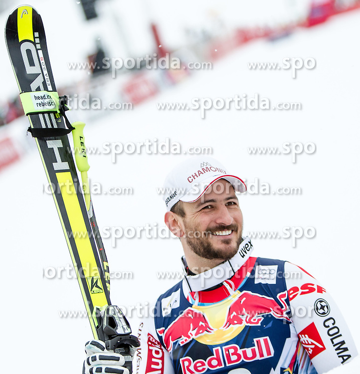 24.01.2015, Streif, Kitzbuehel, AUT, FIS Ski Weltcup, Abfahrt, Herren, Siegerehrung im Bild Guillermo Fayed (FRA, 2. Platz) // 2nd placed Guillermo Fayed of France reacts after during the Winner Award Ceremony after the men's Downhill of Kitzbuehel FIS Ski Alpine World Cup at the Streif Course in Kitzbuehel, Austria on 2015/01/24. EXPA Pictures © 2015, PhotoCredit: EXPA/ JFK
