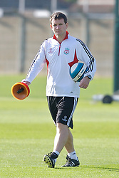 Liverpool, England - Tuesday, October 2, 2007: Liverpool's masseur Paul Small training at Melwood ahead of the UEFA Champions League Group A match against Olympique de Marseille. (Photo by David Rawcliffe/Propaganda)