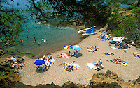 Provence, France.a small secluded beach in the Esterel, near San Raphael and St. Tropez..Photo by Owen Franken