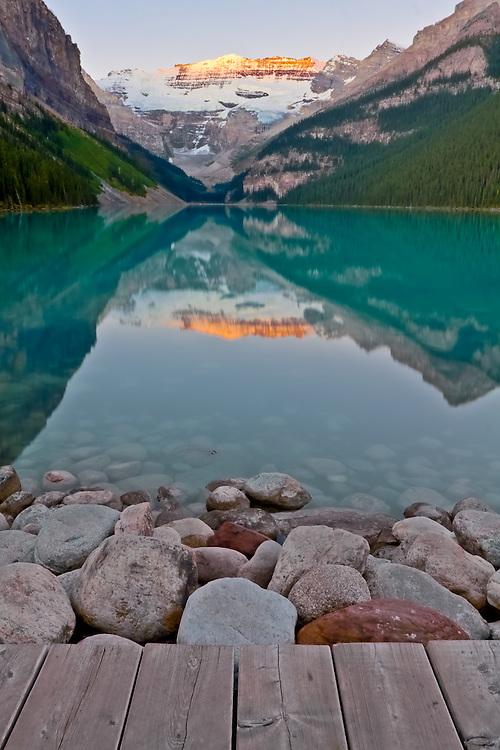 Lake Louise, Banff National Park, Sunrise, Alberta, Canada