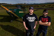 Joshua Knowlton and Kyle Bushman of Ragwood Refactory with an Interstate Cadet they recently restored.