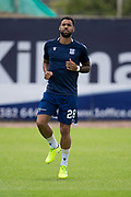 10th August 2019; Dens Park, Dundee, Scotland; SPFL Championship football, Dundee FC versus Ayr; Kane Hemmings of Dundee during the warm up before the match