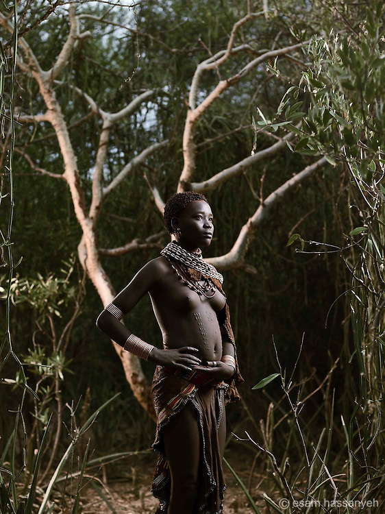 Portrait of Gai Dibo, Lower Omo Valley, Ethiopia.<br />