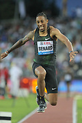 Chris Benard (USA) places third  in the triple jump at 55-6 1/4 (16.92m) during the 2018 Athletissima in an IAAF Diamond League meeting at Stade Olympique de la Pontaise in Lausanne, Switzerland on Thursday, July 5, 2018. (Jiro Mochizuki/Image of Sport)