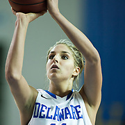 01/11/12 Newark DE: Delaware Junior Forward #11 Elena Delle Donne and the U.S. Basketball Writers Association Women's National Player of the Week attempting free throws during a Colonial Athletic Association Conference Basketball Game against  The University of North Carolina Wilmington Seahawks Thursday, Jan. 12, 2012 at the Bob Carpenter Center in Newark Delaware...No. 18 Delaware (13-1, 4-0) defeated University of North Carolina Wilmington (8-7, 1-3) 69-37 continuing their best start in school history behind Elena Delle Donne 23 point scoring point effort.