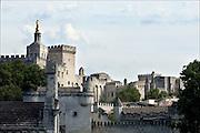 Frankrijk, Avignon, 23-8-2006Zicht op het pauselijk paleis,chateau du pape.Foto: Flip Franssen/Hollandse Hoogte