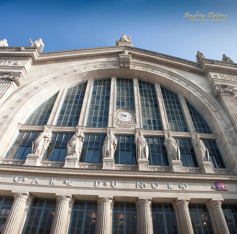 Exterior of Gare Du Nord train station, Paris