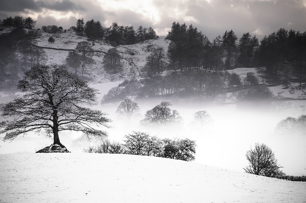 winter sun over Lythe Valley, Windermere
