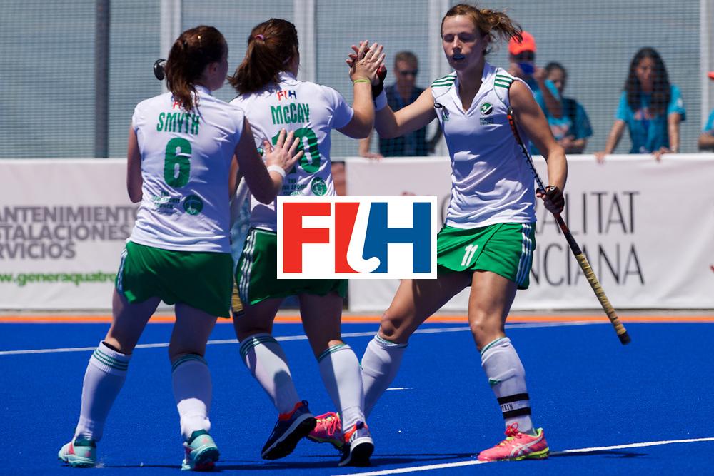 RIO 2016 Olympic qualification, Hockey, Women, quarterfinal, Ireland vs China : Megan Frazer congratulated by its teammates