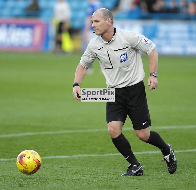 Referee Scott Duncan<br /> <br /> Carlisle United v Portsmouth, SKY BET LEAGUE 2, 21st November 2015<br /> <br /> (c) Alex Todd | SportPix.org.uk