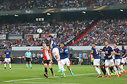 Matteo Darmian Defender of Manchester United heads the ball clear during the Europa League Group Stage match between Feyenoord and Manchester United at De Kuip, Rotterdam, Holland on 15 September 2016. Photo by Phil Duncan.
