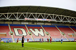 WIGAN, ENGLAND - Friday, July 14, 2017: Liverpool take on Wigan Athletic in front of an empty stand during a preseason friendly match at the DW Stadium. (Pic by David Rawcliffe/Propaganda)