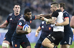 November 26, 2016 - Saint Denis, FRA - Noa Nakaitaci ( France ) - Tj Perenara  (Credit Image: © Panoramic via ZUMA Press)
