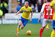 Leeds United midfielder Adam Forshaw (4) in action  during the EFL Sky Bet Championship match between Rotherham United and Leeds United at the AESSEAL New York Stadium, Rotherham, England on 26 January 2019.