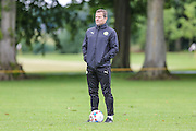 Forest Green Rovers manager, Mark Cooper during the Forest Green Rovers Training at the Cirencester Agricultural College, Cirencester, United Kingdom on 12 July 2016. Photo by Shane Healey.
