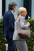 Besloten bijeenkomst voor nabestaanden van de slachtoffer van de vliegramp met de MH17 in het NBC Congrescentrum in Nieuwegein <br /> <br /> Closed meeting for the families of the victims of the plane crash with the MH17 , in NBC congresscentre in Nieuwegein <br /> <br /> Op de foto / On the photo: Minister van Defensie Jeanine Hennis-Plasschaert / Defense Minister Jeanine Hennis-Plasschaert