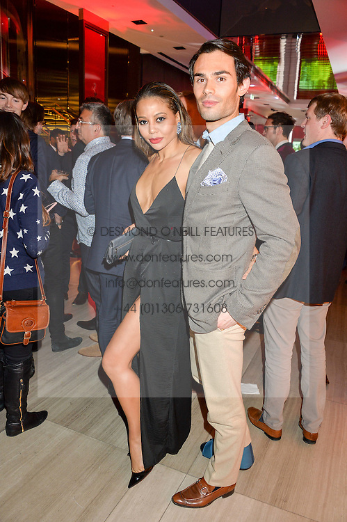VISCOUNTESS WEYMOUTH and MARK-FRANCIS VANDELLI at the launch of the new Ferrari 488 Spider held at Watches of Switzerland, 155 Regent Street, London on 25th February 2016.