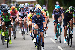 Emilie Moberg (NOR) on the front of the bunch at OVO Energy Women's Tour 2018 - Stage 2, a 145 km road race from Rushden to Daventry, United Kingdom on June 14, 2018. Photo by Sean Robinson/velofocus.com