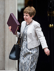 © Licensed to London News Pictures. 02/06/2015. Westminster, UK. Leader of the House of Lords, Baroness Stowell leaving Number 10 Downing Street in London following a cabinet meeting. Photo credit: Ben Cawthra/LNP