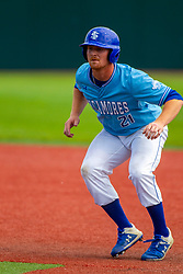 25 May 2019:  CJ Huntley. Missouri Valley Conference Baseball Tournament - Dallas Baptist Patriots v Indiana State Sycamores at Duffy Bass Field in Normal IL<br /> <br /> #MVCSPORTS