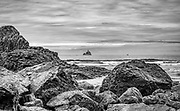 View of Tillamook Rock Lighthouse from Submarine Rock at Indian Beach, Ecola State Park, Oregon