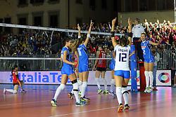 ITALIA ESULTA<br /> ITALIA - AZERBAIJAN<br /> AMICHEVOLE NAZIONALE ITALIANA VOLLEY FEMMINILE<br /> FIRENZE 09-09-2015<br /> FOTO GALBIATI - RUBIN