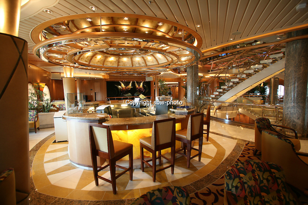 Royal Caribbean International's  Independence of the Seas, the world?s largest cruise ship. ..Interior and exterior features photos...Boleros Bar