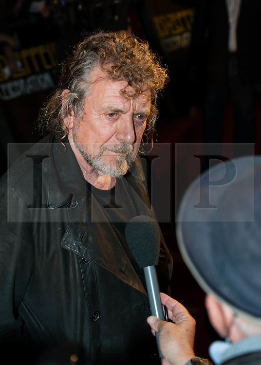 © Licensed to London News Pictures. 12/10/2012. London, UK.  Led Zeppelin singer Robert Plantat the cinema premiere of Celebration Day, the recording of their 2007 live show held at the O2 Arena, screened at the Hammersmith Apollo.  Photo credit : Richard Isaac/LNP