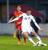 Fotball , 31. mai 2012<br /> Armenia - Hellas<br /> Bild zeigt Davit Manoyan (ARM) und Chose Cholevas (GRE). <br /> Norway only