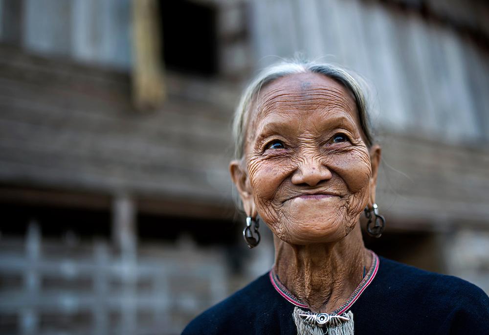 Lanten woman in Luang Namtha, Laos.