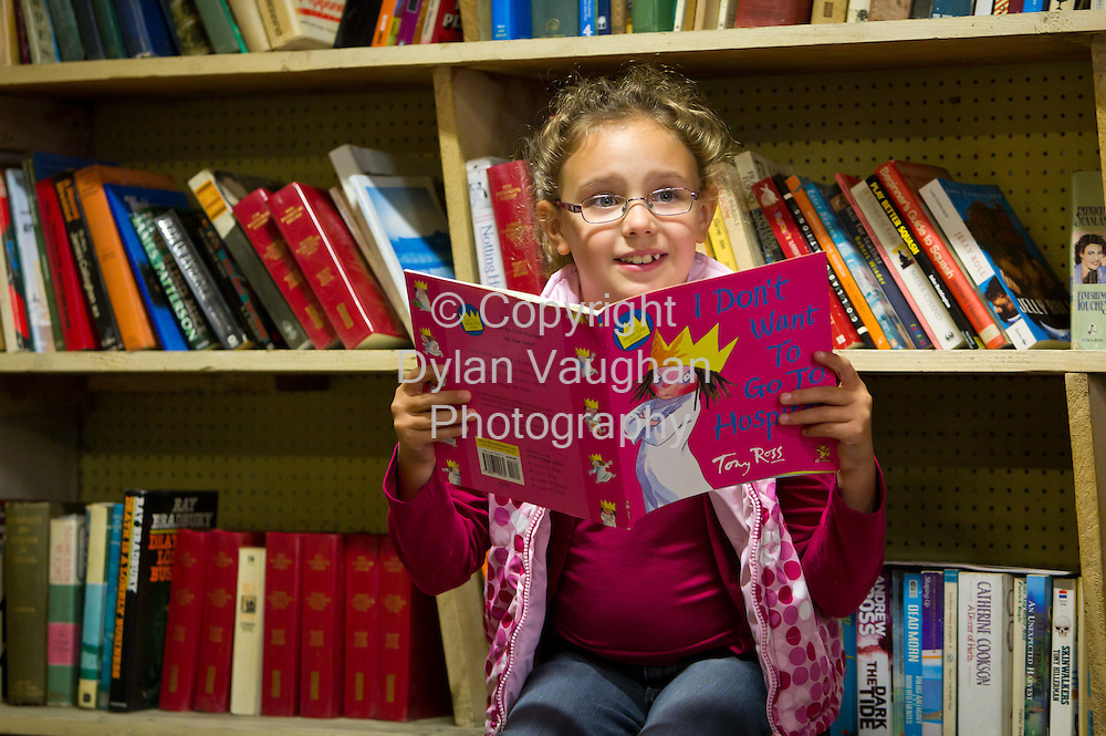 18/9/2010.Olive O'Keeffe aged 7 from Knocktopher County Kilkenny pictured at the Graiguenamanagh 'Town of Books' Festival over the weekend..Picture Dylan Vaughan.