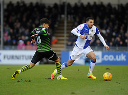 Liam Sercombe of Bristol Rovers is challenged by Niall Mason of Doncaster Rovers - Mandatory by-line: Neil Brookman/JMP - 23/12/2017 - FOOTBALL - Memorial Stadium - Bristol, England - Bristol Rovers v Doncaster Rovers - Sky Bet League One