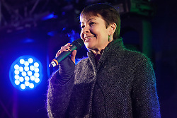 London, UK. 15th January, 2019. Caroline Lucas, Green Party MP for Brighton Pavilion, addresses pro-EU activists attending a People's Vote rally in Parliament Square as MPs vote in the House of Commons on Prime Minister Theresa May's proposed final Brexit withdrawal agreement.