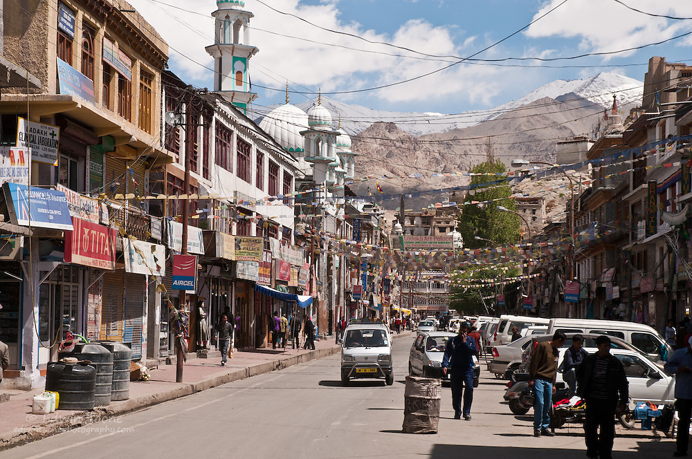 Main street Leh is full of trekking outfitters and internet cafes.