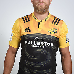 WELLINGTON, NEW ZEALAND - DECEMBER 14: Brad Shields poses during the Super Rugby Hurricanes Headshots session on December 14, 2016 in Wellington, New Zealand.  (Photo by Mark Tantrum/Getty Images)