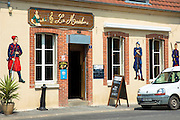 Bar La Madelon on the Champagne Tourist Route at Mancy, the Marne, Champagne-Ardenne, France