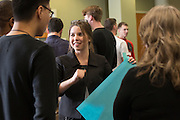 Kayleigh Marks prepares to lead her group as the CEO during an activity at Startup Weekend Athens at the Ohio University Innovation Center on March 18, 2016.